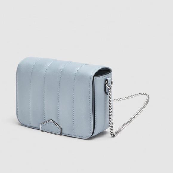 9744eb74 NWT Zara Baby Blue Quilted Crossbody Bag. NWT